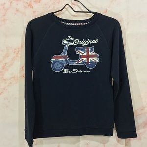 NWT The Original Ben Sherman Navy Sweatshirt 12/14